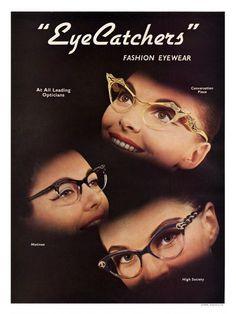 Fashion Eyewear Advertisement 1950s: Matinee Glasses