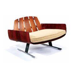 Jorge Zalszupin, lounge chair, 1970s. Brazil.Source