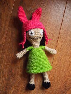 Louise Belcher Crochet Amigurumi Doll - Bobs Burgers Fan Art. $25.00, via Etsy.