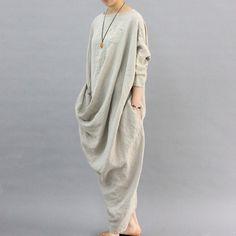 Unique Design Linen Dress
