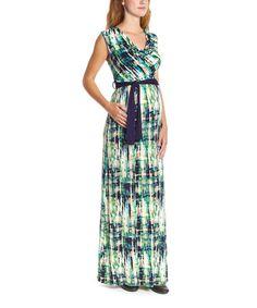 Look at this #zulilyfind! Navy & Emerald Melange Maternity Maxi Dress by Anticipation #zulilyfinds