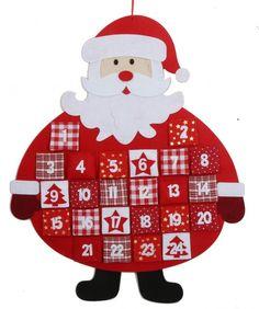 Hanging Felt Santa Father Christmas Advent Calendar - Fabric