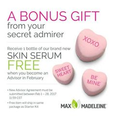 Join me with Max & Madeleine this month and get our not yet released facial Serum for free!