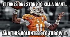 ...but he's gonna need the defense to show up when he's on the sidelines! #VFL #dobbs