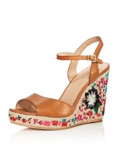3d5618c9c473 kate spade new york Dallas Embroidered Platform Wedge Sandals