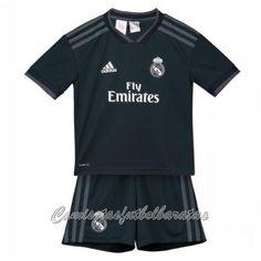 d9dd42845da18 Segunda Nueva Camiseta Del Niños Conjunto Completo Real Madrid 2018-2019