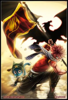 Fairy tail - natsu and happy dragon slayer, fairy tail anime, fairy tail art Natsu Fairy Tail, Art Fairy Tail, Fairy Tail Happy, Anime Fairy Tail, Read Fairy Tail, Image Fairy Tail, Fairy Tail Guild, Fairy Tales, Zeref