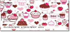 Miss Fluff Cupcake Shoppe personal checks ~ bust out some sweet bakery treats every time you write a check! http://foodiechecks.com/Cupcake.shtml