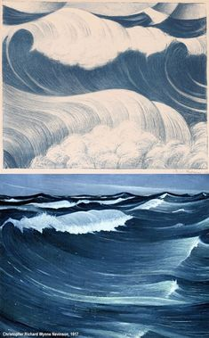 Modern Art Paintings, Seascape Paintings, Oil Painting Abstract, Oil Paintings, Landscape Drawings, Art Drawings, Wave Illustration, Zen Art, Surf Art
