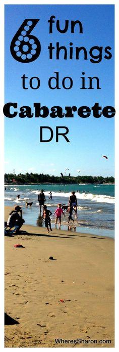 6 fun things to do in the north coast beach town of Cabarete in the Dominican Republic http://www.wheressharon.com/family-trip-usa-caribbean/6-fun-things-cabarete-budget/ #travel #dominicanrepublic #cabarete
