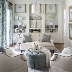 Fort Worth Georgian | Southern Home Magazine | Living Room | Blue ...