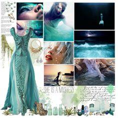 Mermaid by cyanideteaparty on Polyvore featuring Anaconda, Alkemie, MAC Cosmetics, Urban Decay, Alexander McQueen and Apsara