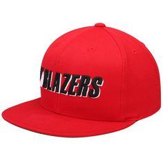 finest selection 1177b eec1c Men s Portland Trail Blazers Mitchell   Ness Red Solid 2 Wordmark Snapback  Adjustable Hat,  29.99
