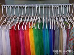 Children's Size Hangers (from anywhere) to store tissue paper
