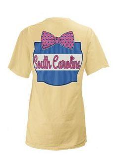Pressbox  South Carolina State Bow Tie Tee