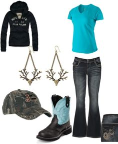 """""""Country Girl Style"""" by idahocowgirl on Polyvore there's no Hollister in a country outfit..just sayin"""