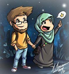 Islamic Couple Anime Islamic Love Pinterest Islam Muslim