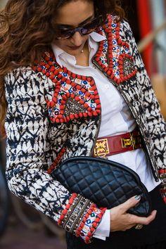Chanel clutch, Isabel marant pour hm fashion, vintage Hermes belt
