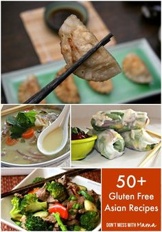 50+ Gluten Free Asian Recipes - Chinese, Korean, Thai, Vietnamese #glutenfree #recipes - DontMesswithMama.com