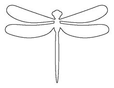 Dragonfly pattern. Use the printable outline for crafts creating ...