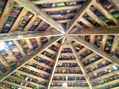 Ceiling of twig and plank gazebo @ Birmingham Botanical Gardens, Birmingham, AL