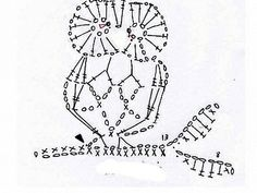 Motif of the owl (with knitting view, owl, owl): Crochet a little Crochet Owl Applique, Marque-pages Au Crochet, Crochet Mignon, Mode Crochet, Crochet Birds, Crochet Motifs, Crochet Diagram, Crochet Chart, Thread Crochet
