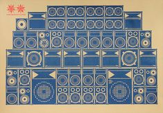 Awesome soundsystem print.