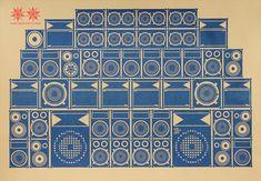 Awesome soundsystem print.