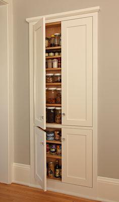 Elegant 4 Door Storage Pantry Cabinet