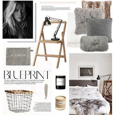 Blueprint by barngirl on Polyvore featuring interior, interiors, interior design, home, home decor, interior decorating, Luxo, Barneys New York, Pottery Barn and UGG Australia