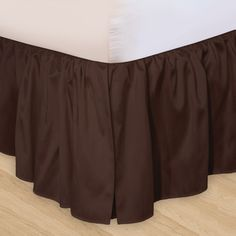 """Veratex """"Hike Up Your Skirt"""" Ruffled Bedskirt in Chocolate - 4797"""