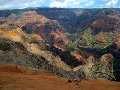 waimea canyon | Waimea canyon from different viewpoints. Waimea Canyon, Kauai, Grand Canyon, Water, Travel, Outdoor, Heart, Make Money, Water Water