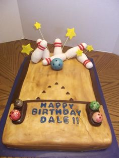 Bowling Birthday Cake By Ohel on CakeCentral.com