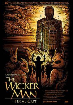 The Wicker Man, starring Edward Woodward, Christopher Lee, Diane Cilento, Ingrid Pitt and Britt Ekland, 1973