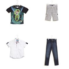 #BoysClothing: Buy latest collection of clothes from online shopping store. You will find great designs of baby boys clothing at best price in India. You can get best branded clothing for your kids with easy payment method & free shipping delivery in India. Shop kids designer clothes collection like jeans, t-shirts, shirts & more..