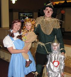 Family Halloween Costume 2007 - The Wizard of Oz  My costume was store-bought.  The rest were hand-made.  My mom helped me out by making my husband's costume.