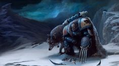 A space marine from the space wolves chapter battling a Tyranid. Space Wolves Space Wolves fight and Space Wolves: Apofeoz by Denewer Fantasy, Wolf Wallpaper, Fantasy Art, Sci Fi Art, Warhammer 40k Space Wolves, Artwork, Fantasy Wolf, Winter Wolves