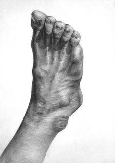 Anatomy Sketches, Anatomy Drawing, Anatomy Art, Art Sketches, Pencil Art Drawings, Realistic Drawings, Leg Anatomy, Feet Drawing, Beginner Sketches