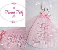 invitation princesse anniversaire