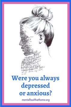 My own depression started later in life, so it felt like something that happened to me rather than being part of who I am. But for others, depression/anxiety is all they've ever known. #anxiety #depressed #livingwithdepression #livingwithanxiety #mentalhealth #mentalillness Living With Depression, Bipolar, Mental Illness, Anxious, Disorders, Mental Health, Mood, Shit Happens, Feelings