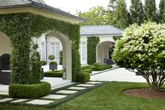 Boston Ivy covered loggia & garden by Howard Design Studio.