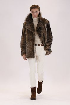 Ralph Lauren Fall/Winter 2016-2017 Menswear Fashion Show. Lucky Blue Smith model.
