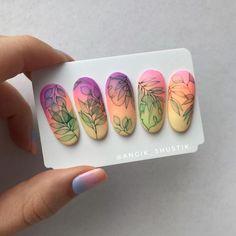 80 Awesome Acrylic Almond Nails Designs – Page 2 Almond Nails Designs, New Nail Designs, Beautiful Nail Designs, Nail Art Fleur, Fake Nails With Glue, Art Deco Nails, Nail Art Wheel, Japan Nail, Water Color Nails