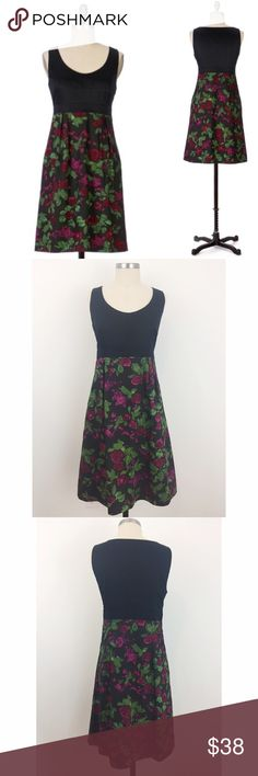 Moulinette Sours Dinner-For-Two Dress This romantic number, with a pieced bodice and a length of berry, lace-trimmed lining, begs to paired with soft candlelight and a bottle of fine wine. Side pockets; hidden zip; cotton, acetate lining; machine wash. Gently worn condition -  no signs of wear! Anthropologie Dresses Mini