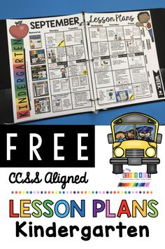 KINDERGARTEN back to school lesson plans and free printable activities - read aloud books