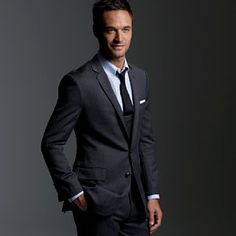 Charcoal suit with blue shirt | Men's Clothes | Pinterest