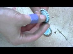 how to flatten a bottlecap for jewelry