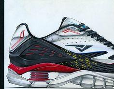 Prismacolor, Sneakers Sketch, Sneakers Design, Sneakers Nike, Kids Running Shoes, Shoe Sketches, Shoe Art, Jogging, Designer Shoes
