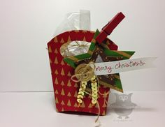 Sunday, October 2014 Dani's Thoughtful Corner: Under the Tree Specialty dsp, Good Greetings, Stars Collection Framelits, Gold Sequin Trim 3d Christmas, Christmas Paper Crafts, Christmas Items, White Christmas, Packaging Ideas, Gift Packaging, Hamburger Box, Fry Box, Santas Workshop
