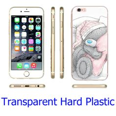 Tatty Teddy Me To You Bear Hard Transparent Phone Case for iPhone 7 6 6S Plus 4 4S 5C 5 SE 5S Cover